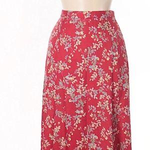 NWOT Pendleton Classic Floral Print Casual Skirt